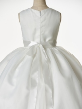 Sleeveless Organza Flower Girl Dress with Zipper-Up