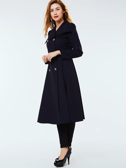 Double-Breasted Lapel Women's Trench Coat