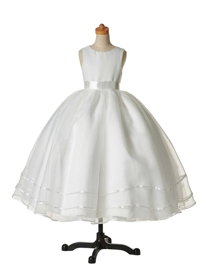 Jewel Neck Cheap Flower Girl Dress