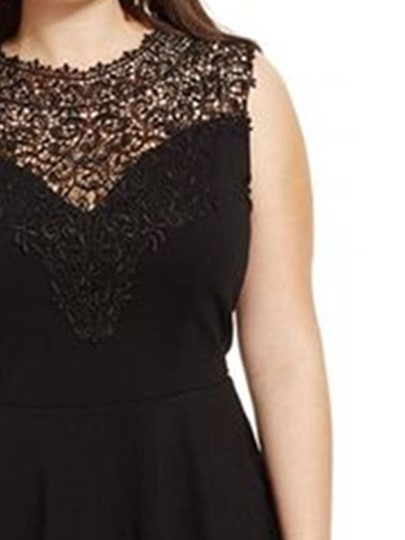 Plus Size Sleeveless Lace Women's Blouse