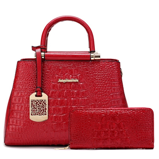 Crocodile Embossing Women's Bag Set(2 bags)
