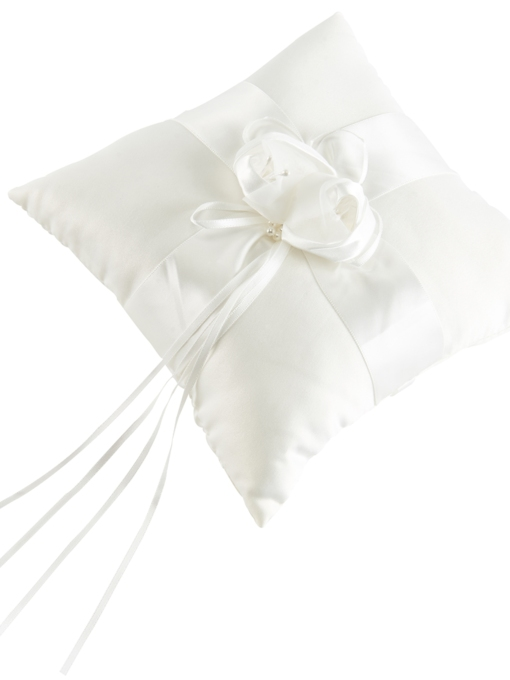 Pearls Wedding Ring Pillow with Ribbon