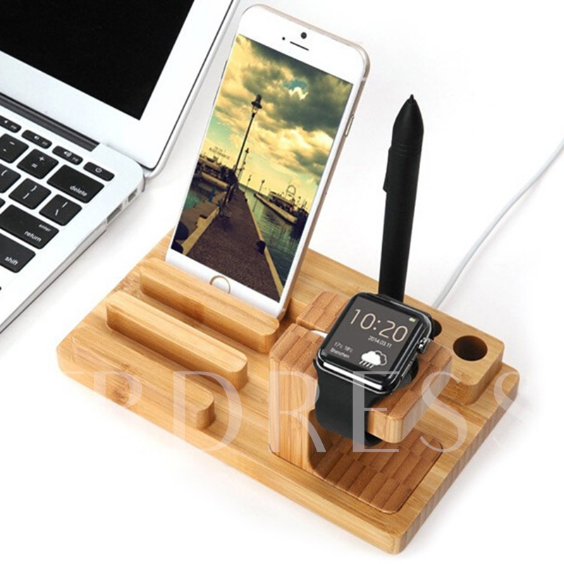 Wooden Charging Dock Station Holder for iPhone iPad and Apple Watch