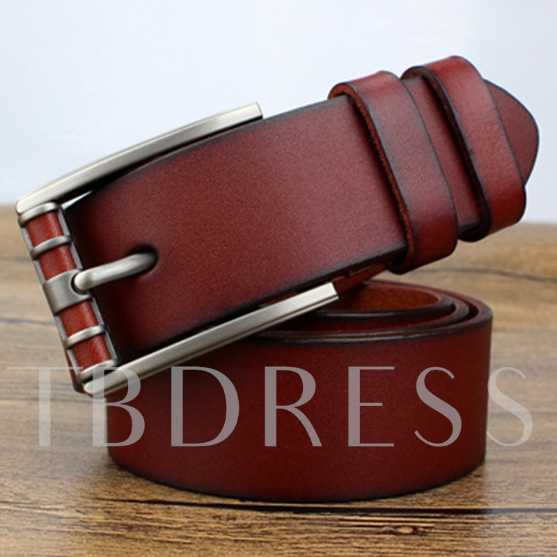 High Quality Pin Buckle Artificial Leather Men's Belt