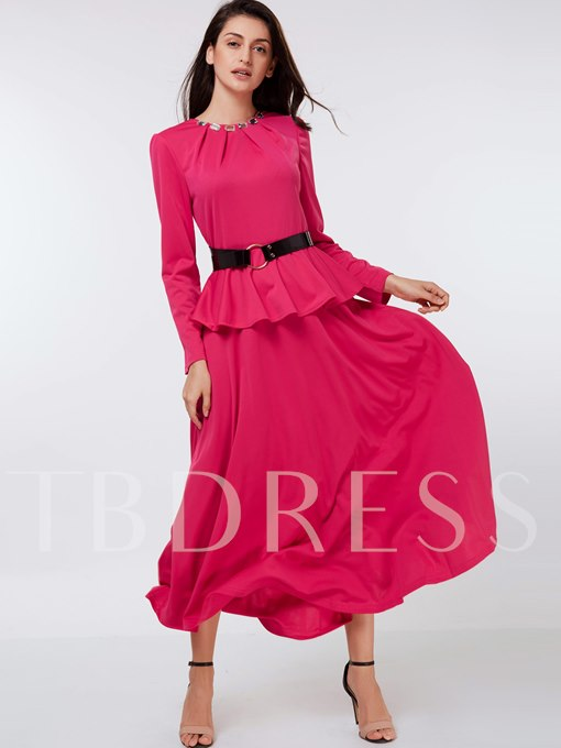 Rose Double-Layered Women's Maxi Dress