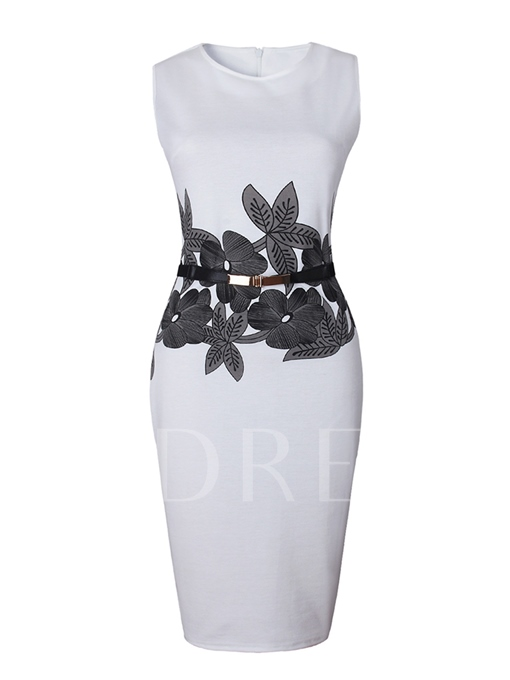 Invisible Zipper Sleeveless Women's Bodycon Dress