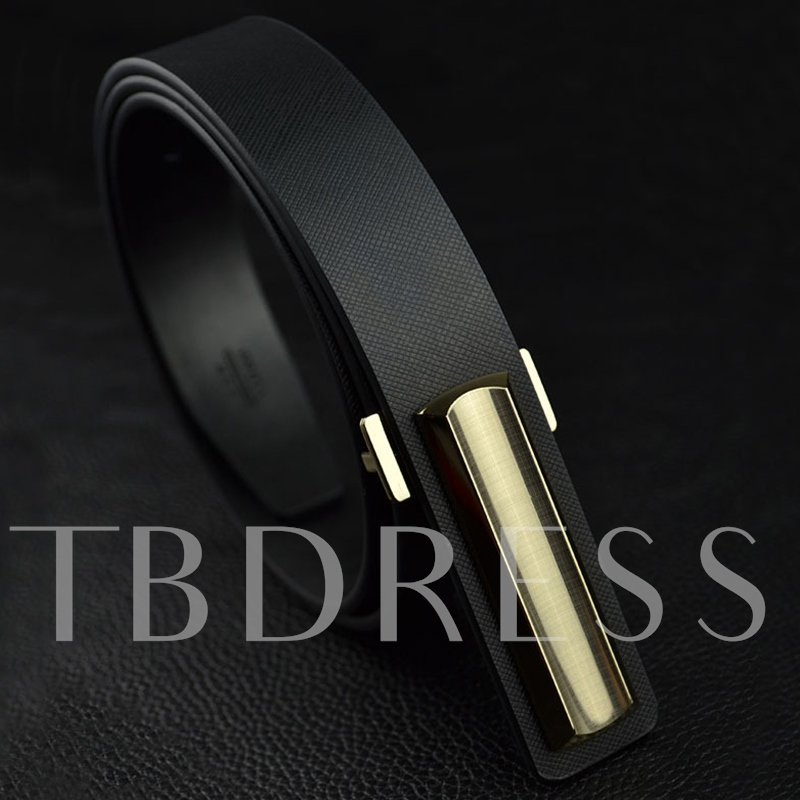 Casual Smooth Buckle Design Men's Belt
