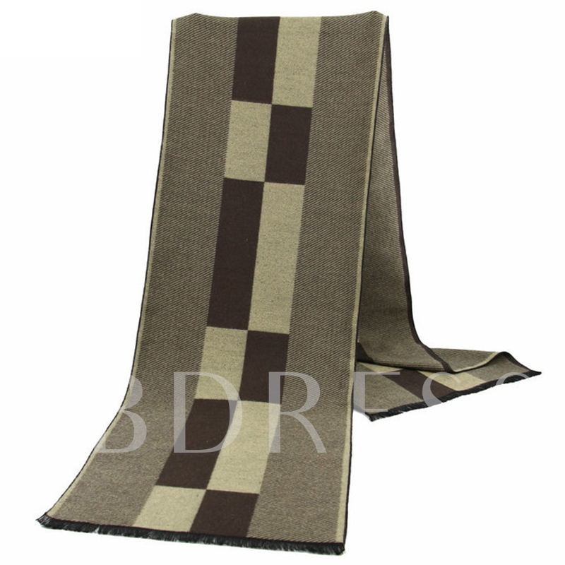 British Style Lattice Design Men's Scarf