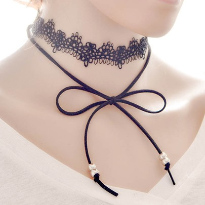 Bowknot Lace Choker Necklace
