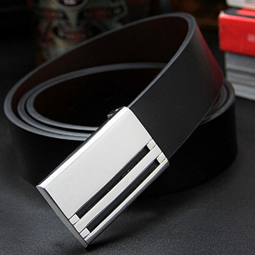 Unique Automatic Buckle Artificial Leather Men's Belt