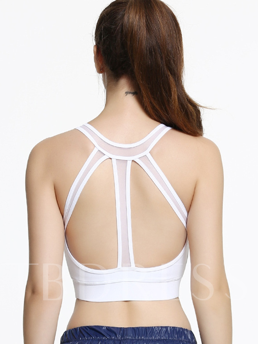 Fast Drying Shockproof Strappy-Back Women Sports Bra