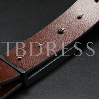 Business Automatic Buckle Artificial Leather Men's Belt