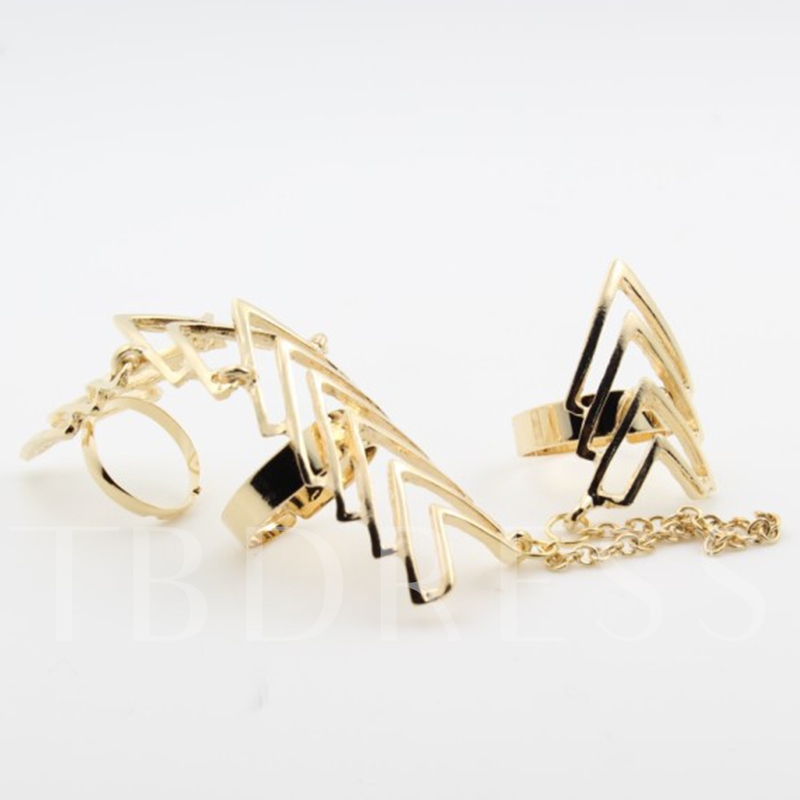 Alloy Arrow-Shaped Chain Ring