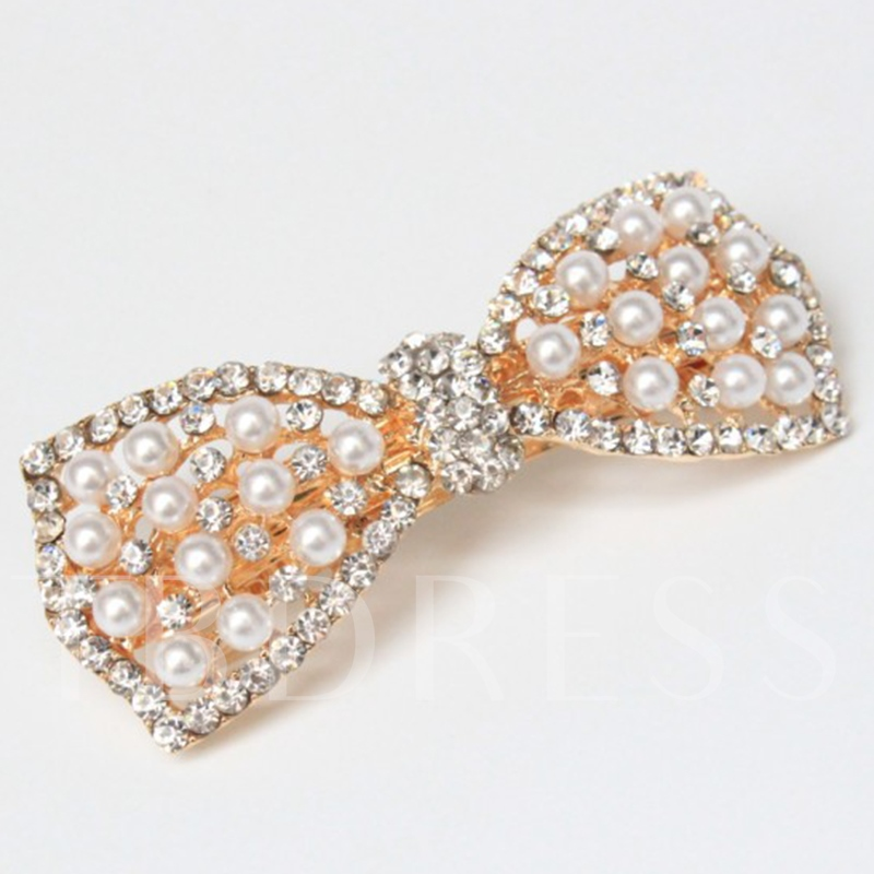 Pearl Bowknot Hair Accessory