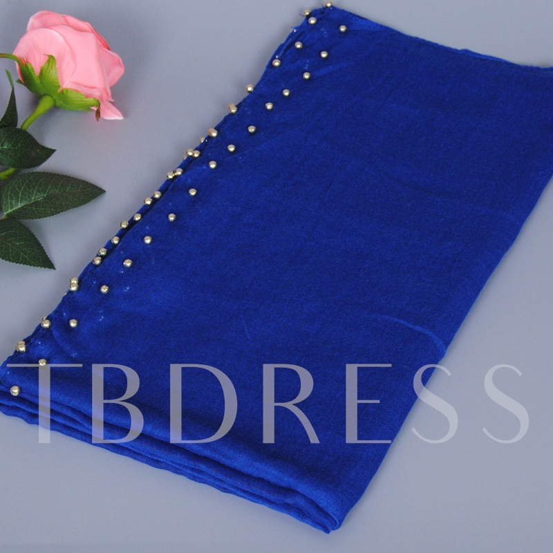Muslim Gold Beads Decorated Scarf