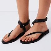 Thong Slip-On Flat Heel Plain Women's Sandals