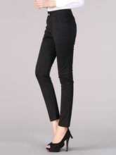 Low Waisted Pure Color Women's Pants