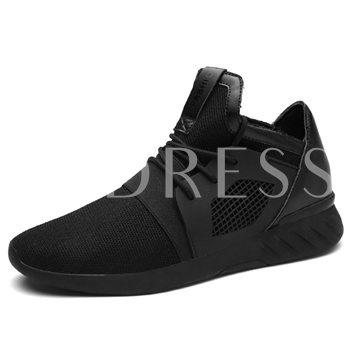 Patchwork Round Toe Cross Strap Men's Shoes