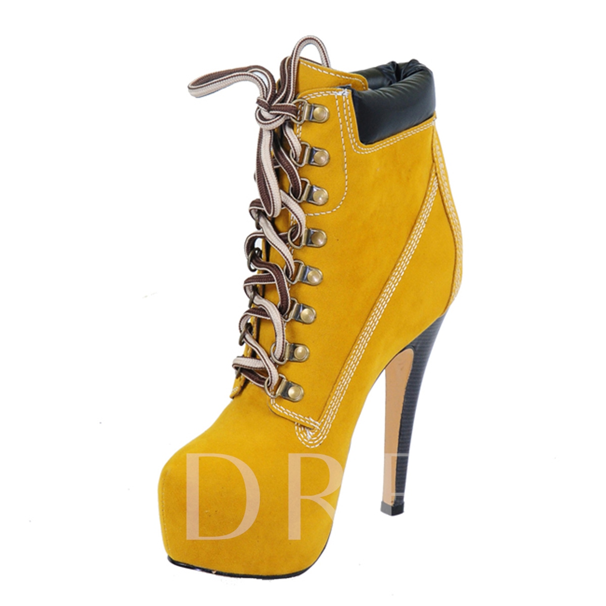 Buy Stiletto Heels Lace-up Nubuck Ankle Boots, Spring,Fall,Winter, 10783501 for $70.99 in TBDress store