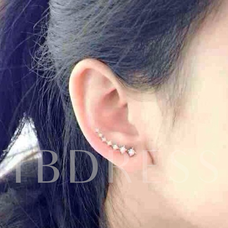 Full Rhinestone Big Dipper Earrings