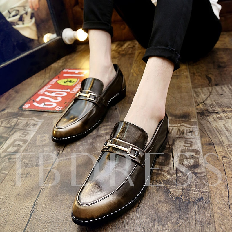 Buckle Slip-On Men's Oxfords