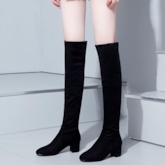 Over-the-Knee Slip-On Suede Plain Women's Boots
