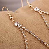 Water Droplets Diamante Pendant Earrings
