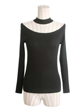 Ring Detail Solid Color Halter Women's Sweater