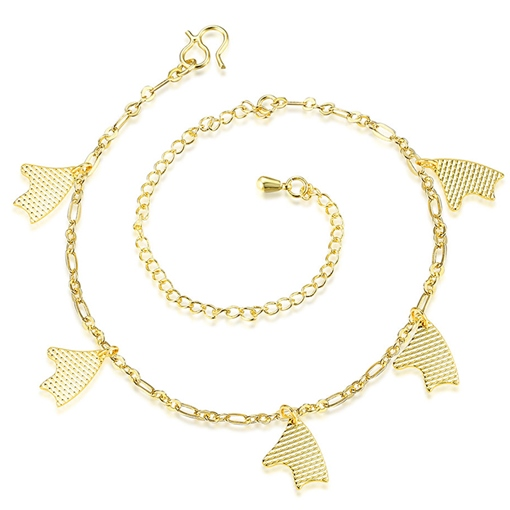 Golden Fish Design Plated Anklet