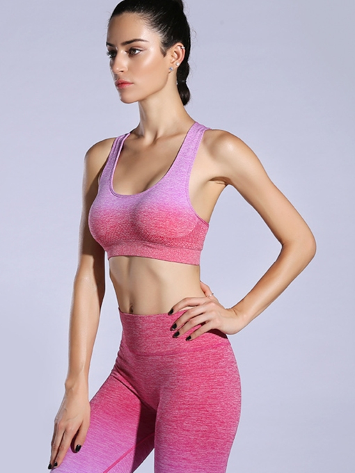 Mixed Color Dyed Y-Back Women Sports Bra