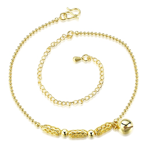 Small bell Pendant Golden Anklet