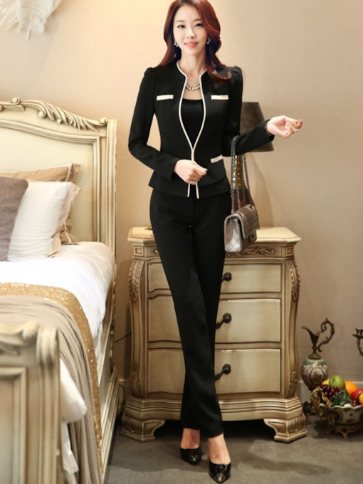 Slim Formal Jacket Pants Business Women's Suit