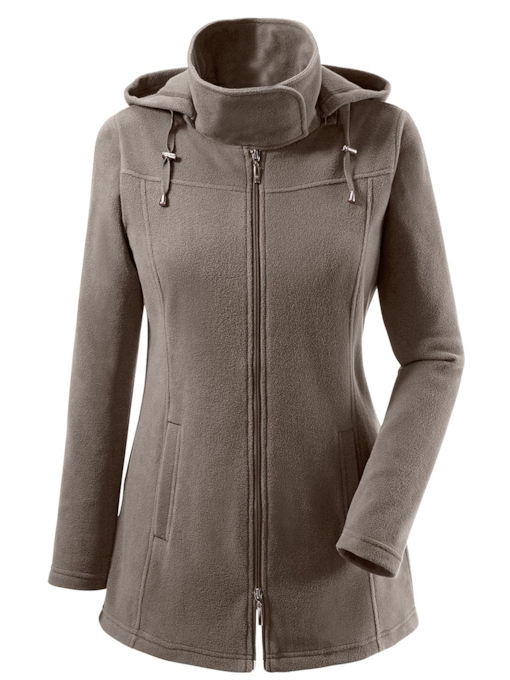 Zipper Stand Collar Plain Women's Jacket