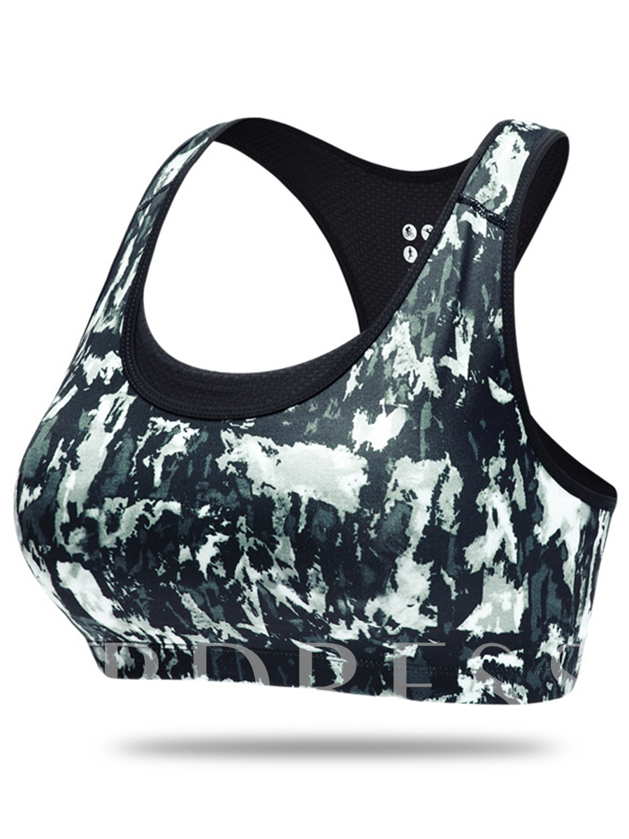 Camouflage Breathable Y-Back Women Sports Bra