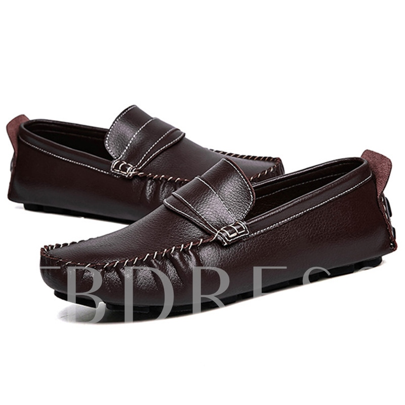 Slip-On Flat Heel Plain Low-Cut Upper Men's Boat Shoes