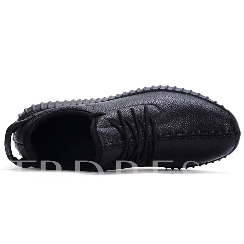 Plain Cross Strap Round Toe Low-Cut Upper Men's Sneakers