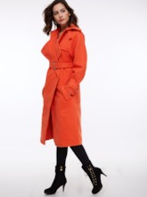 Solid Color Pocket Lacing Women's Overcoat