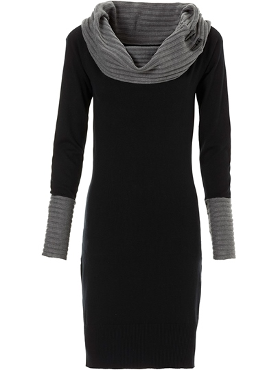 Top Quality Knee-Length Long Sleeve Women's Sweater Dress
