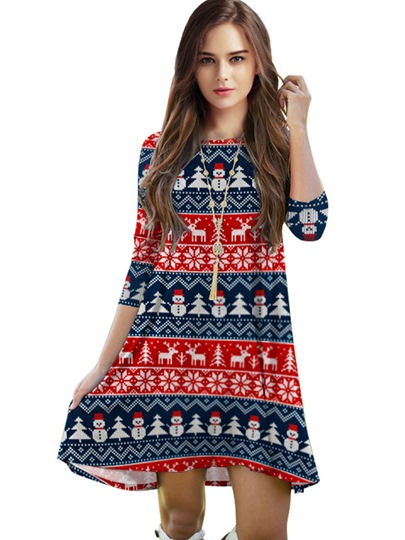 Christmas Straight Women's Day Dress