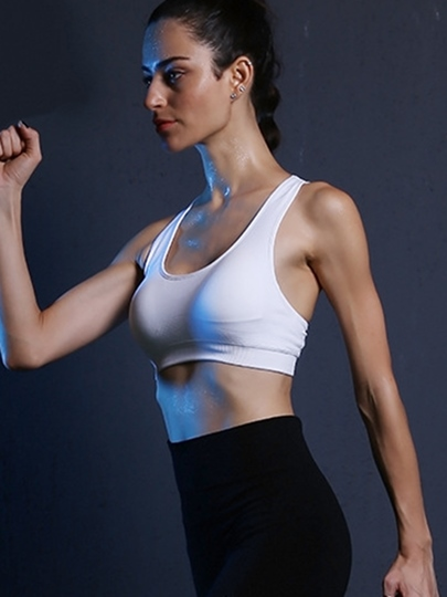 Solid Color Breathable Y-Back Women Sports Bra