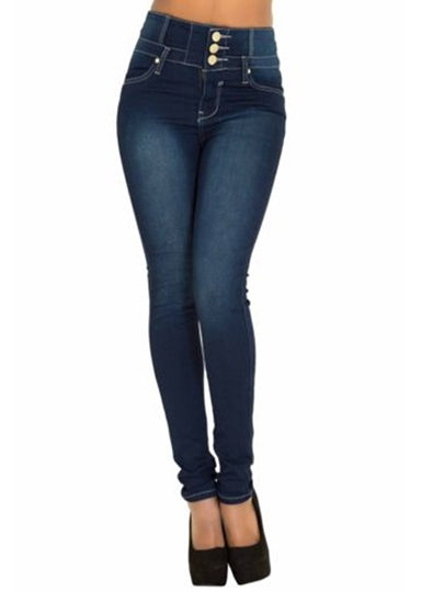 Tight Denim Buckle Women's Jeans
