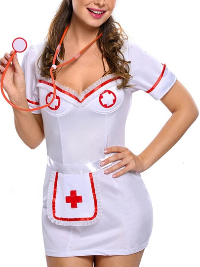 Short Sleeve Night-Nurse Cosplay Costume