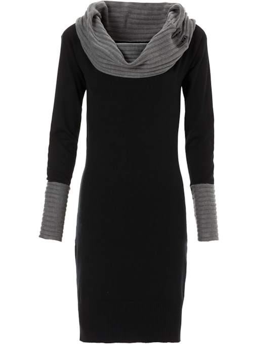 Long Sleeve Dresses for Women Black Sweater
