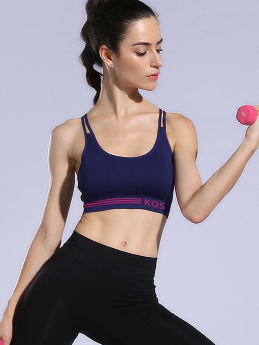 Gathering Shock Proof Strappy-Back Women Sports Bra