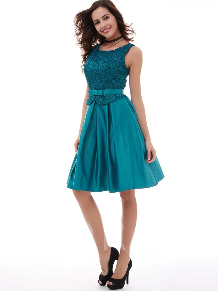 Lace A-Line Knee-Length Short Cocktail Dress