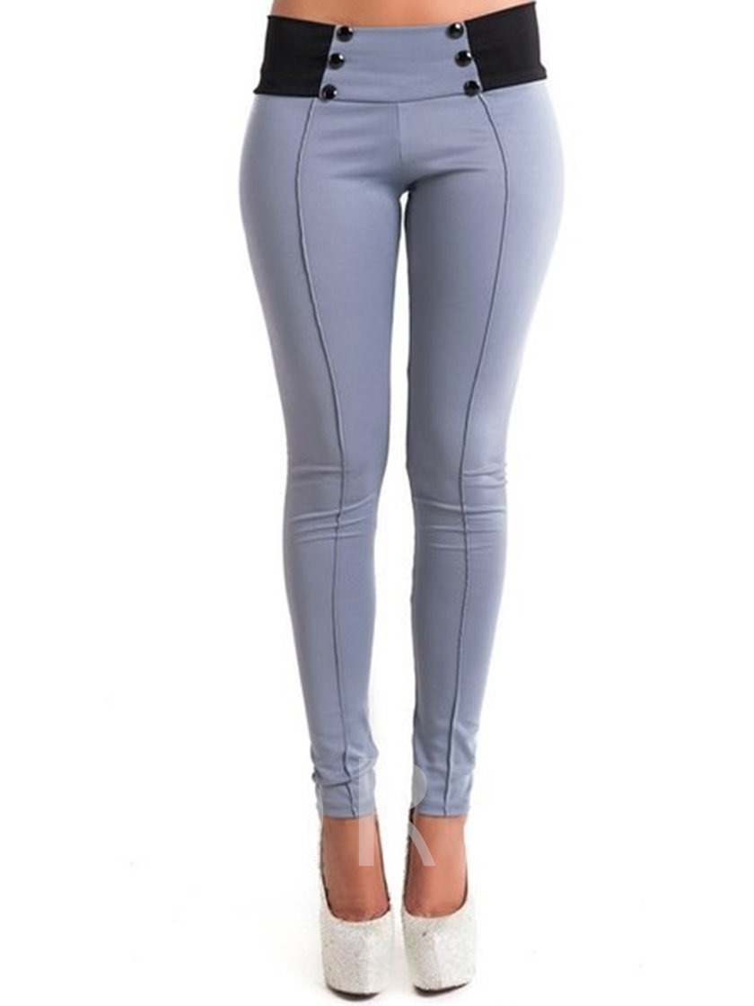 High Waisted Tight Pure Color Women's Leggings