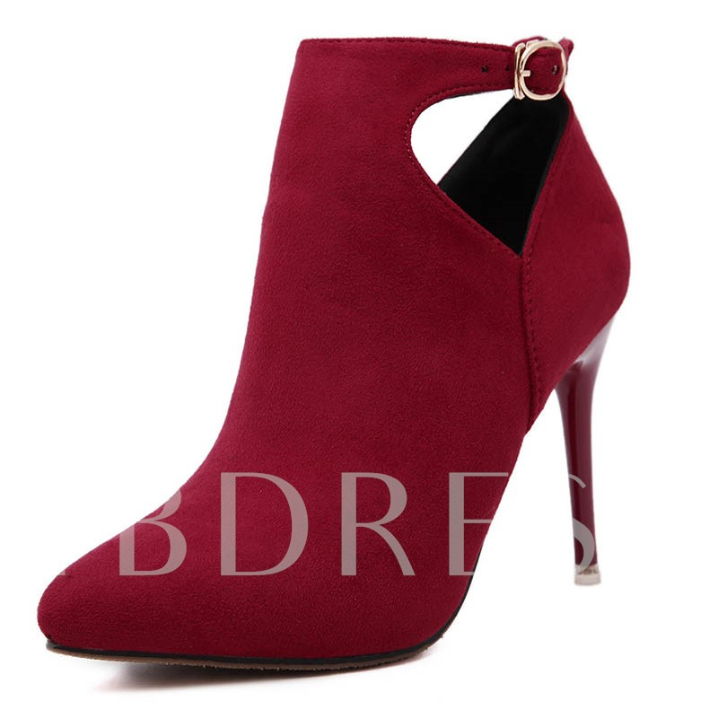 Pointed Toe Suede Ankle Women's Boots
