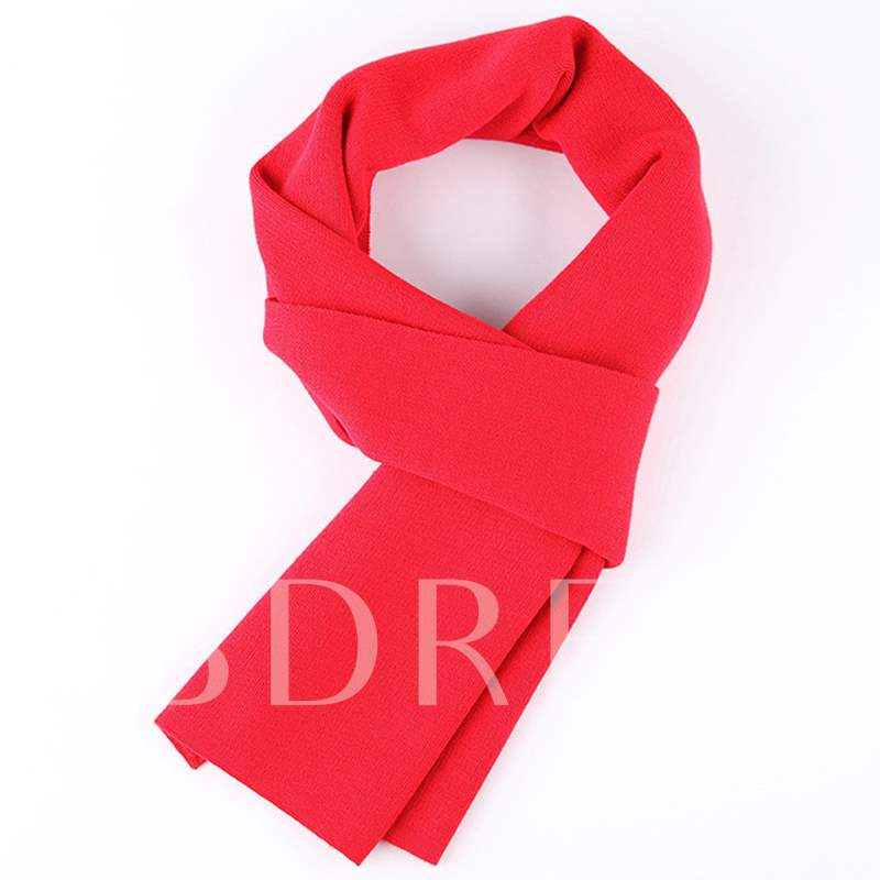 Pure Color Wool Warm Men's Scarf
