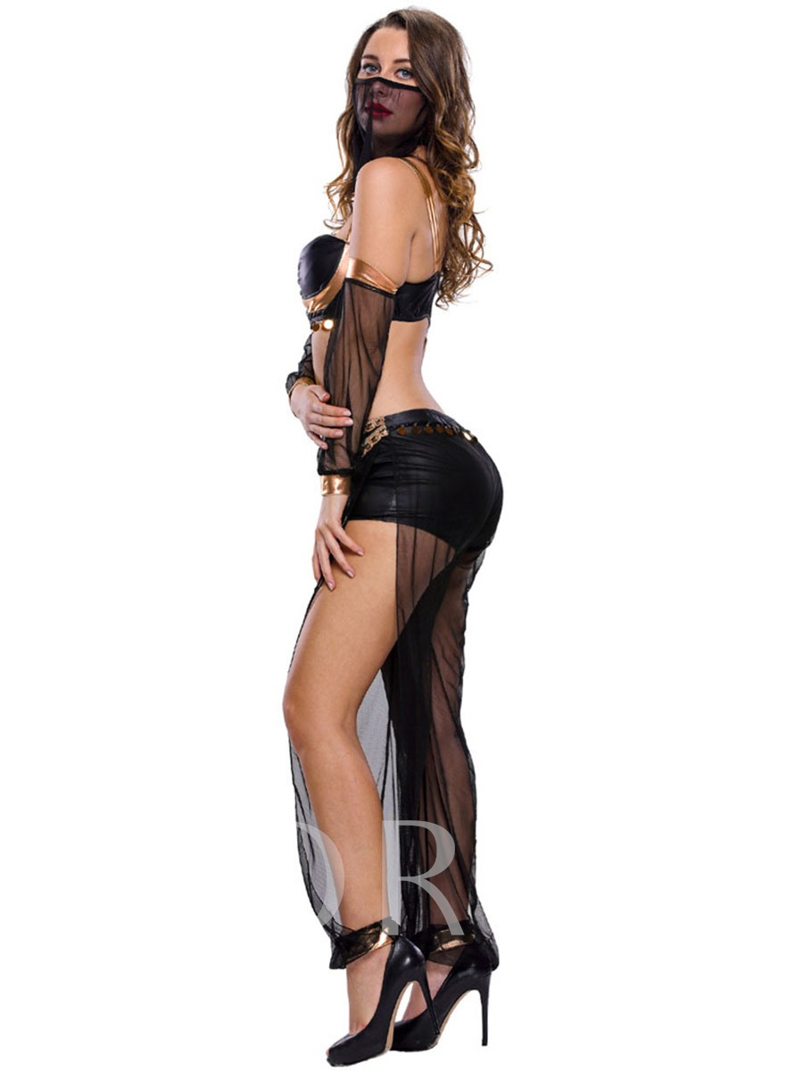 Sexy See-Through Chain Holloween Costume