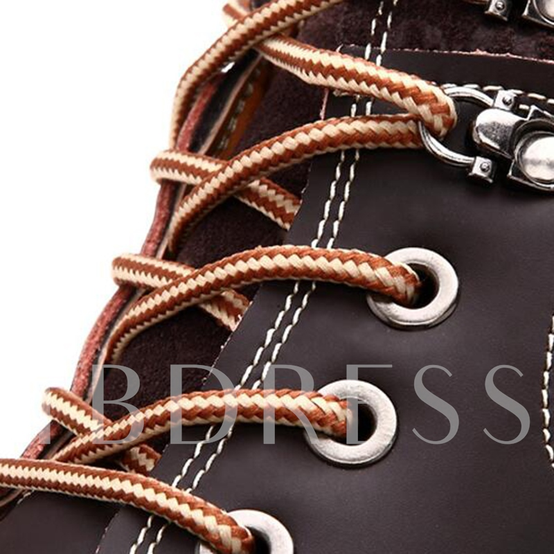 Patchwork Cross Strap Men's Boots